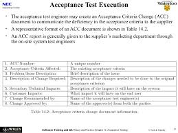 acceptance test report template acceptance testing
