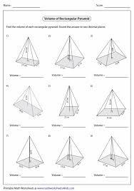 volume of pyramid worksheet 28 templates geometry worksheets
