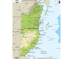 Physical Map North America by Maps Of Belize Detailed Map Of Belize In English Tourist Map