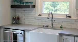 long subway tile backsplash in kitchen villagehomestores com