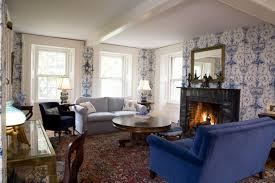 ideas blue country living room images blue and white country