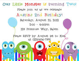 birthday invites terrific monster birthday invitations designs