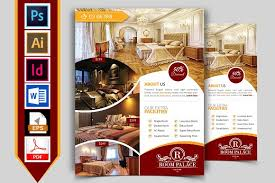 hotel flyer template vol 03 flyer templates creative market