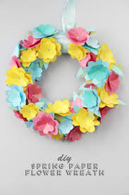 flower wreath diy paper flower wreath gathering beauty