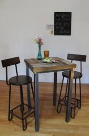 High Bistro Table Set Outdoor Diy Pub Table Build With A Cool Chevron Pattern Table Top