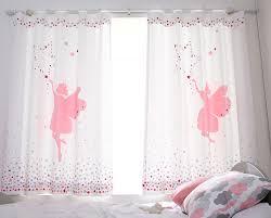 paire de rideaux blanc pour filles fée dans le ciel étoilé