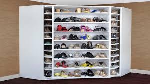 utility closet storage ideas revolving shoe closet corner