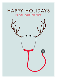 stethoscope reindeer holiday christmas card 20 off