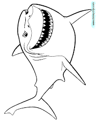 bruce finding nemo coloring coloring