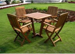 Wooden Patio Table And Chairs Likeable Wood Patio Furniture Sets Home And Interior Home