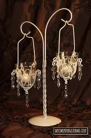 chandelier centerpieces ivory chandelier votive centerpiece
