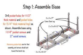 diy solid oak farmhouse bench free u0026 easy plans