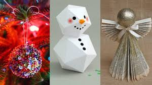 Diy Paper Christmas Decorations Christmas Marvelous Diy Christmasations Image Ideasating