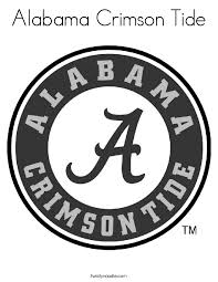 Alabama Crimson Tide Coloring Page Twisty Noodle Alabama Crimson Tide Coloring Pages