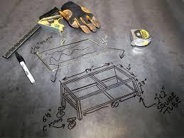 131 0807 02 z welding table build preparation sketch materials