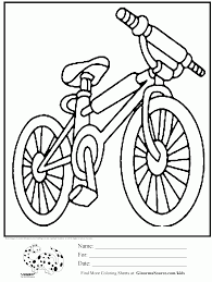 bicycle coloring pages coloring home