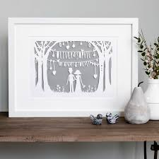 personalised wedding gifts the wedding original bespoke papercut personalised wedding gift