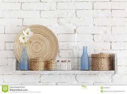 shelves for brick walls decorative shelf royalty free stock photography image 34366697