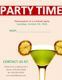 party invitation templates free business templates