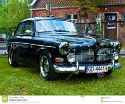 volvo race car vintage volvo amazon during old cars race editorial stock photo