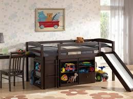Wooden Loft Bed With Desk Underneath Bedroom Furniture Awesome Boys Beds Bed With Desk Under Dark
