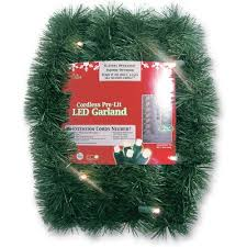 Garland With Lights Brite Battery Operated Artificial Garland With