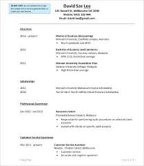 Monash Resume Sample by Work Experience Resume 9 Free Word Pdf Documents Download