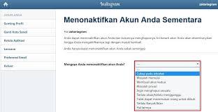 buat akun instagram via operamini mau hapus akun ig atau nonaktifkan akun sementara baca disini