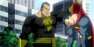 superman fight black adam shazam u0027s rock
