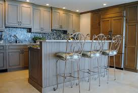 wainscoting kitchen backsplash kitchen beadboard island and glass tile backsplash highlight