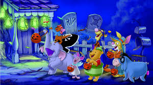 disney pooh halloween desktop wallpaper 1366x768