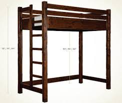 bear creek twin size and extra long twin size loft bed