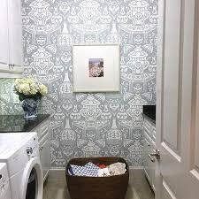 Laundry Room Border - black and white laundry room wallpaper design ideas