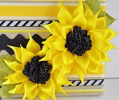 sunflower ribbon ribbon flower challenge entries and a giveaway may arts