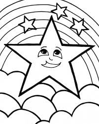 star with cartoon face coloring page for star coloring pages on