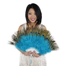 peacock feather fan marabou peacock feather fan