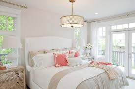 Gold And Coral Bedroom Nightstands Design Ideas