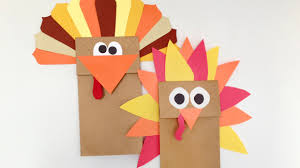 paper bag turkey puppet grandparents