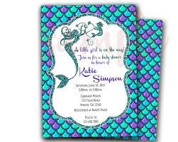 mermaid baby shower invitations badbrya