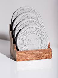 pop chart lab u2014 concrete beer coaster set how cool would these be