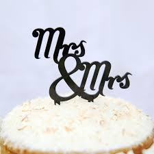 mrs and mrs cake topper mrs and mrs traditional wedding cake topper hardtofind