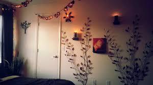 bedroom hipster painting ideas room fairy lights stylish