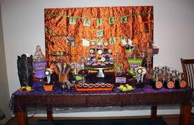orange purple black green color scheme halloween party ideas