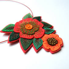 gorgeous felt jewelry by applique originals the beading gem s