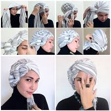 tutorial jilbab turban dian pelangi turban hijab wearing tutorial girls hijab style hijab fashion ideas