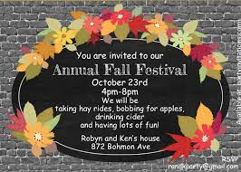 thanksgiving party invites fall and autumn party invitations 2017