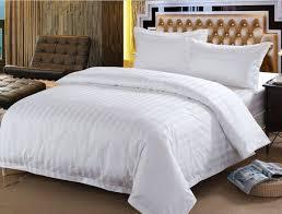 60s cotton white streak hotel bedding sets 4pcs king queen size