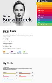 Portfolio Resume Sample by 15 Best Html Resume Templates For Awesome Personal Sites