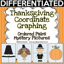 thanksgiving math coordinate graphing pictures math mystery pictures