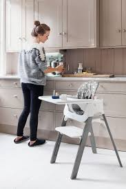 High Chair Table And Chair The Stokke Steps High Chair In Grey With Baby Set And Tray High